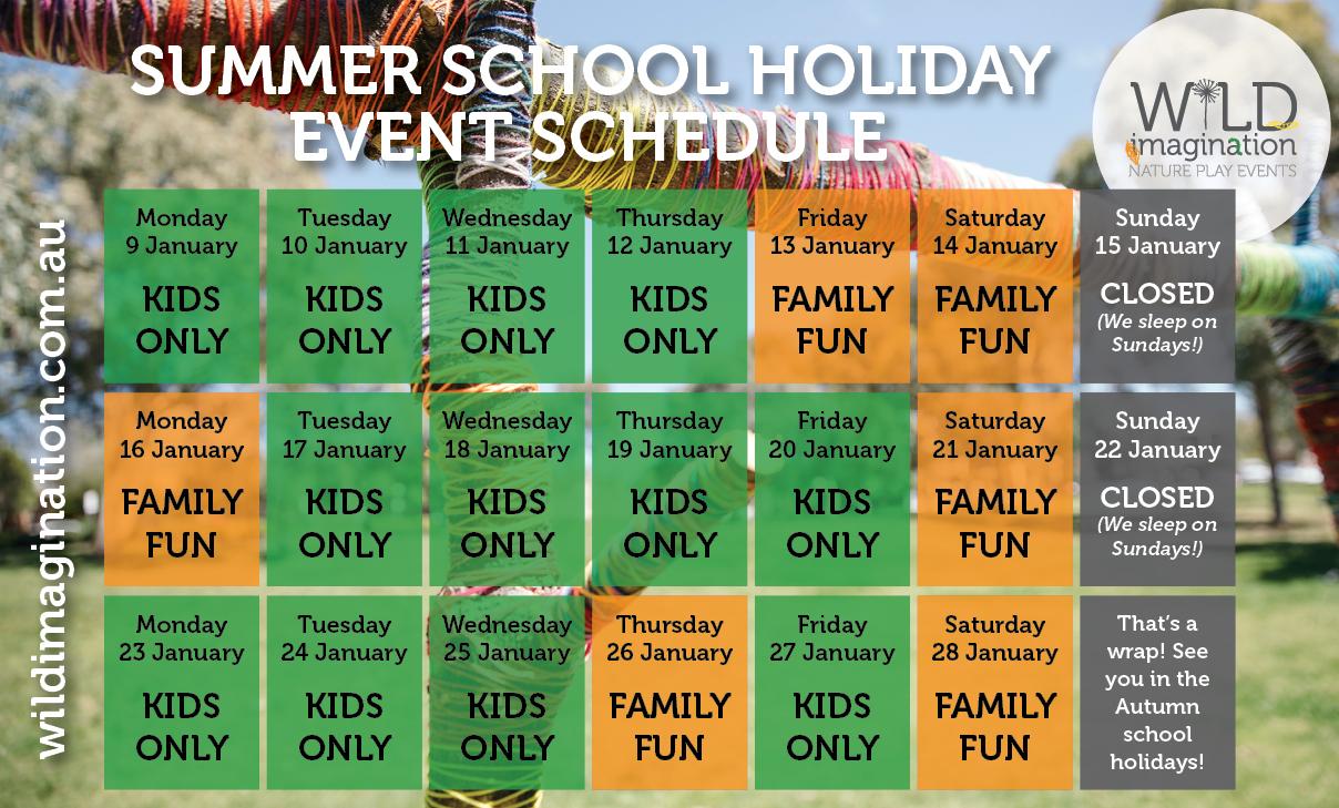 Wild Imagination - Summer 2017 Event Schedule
