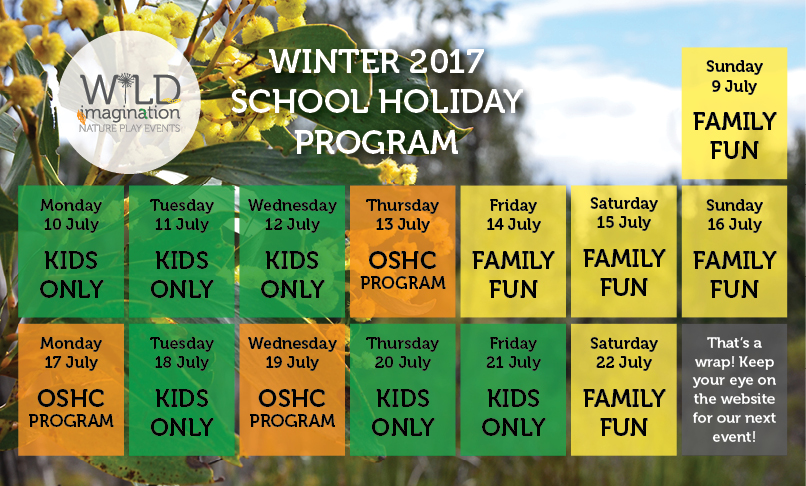 Wild Imagination - Winter Schedule 2017
