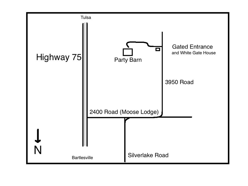 Map to the Foster Ranch Barn
