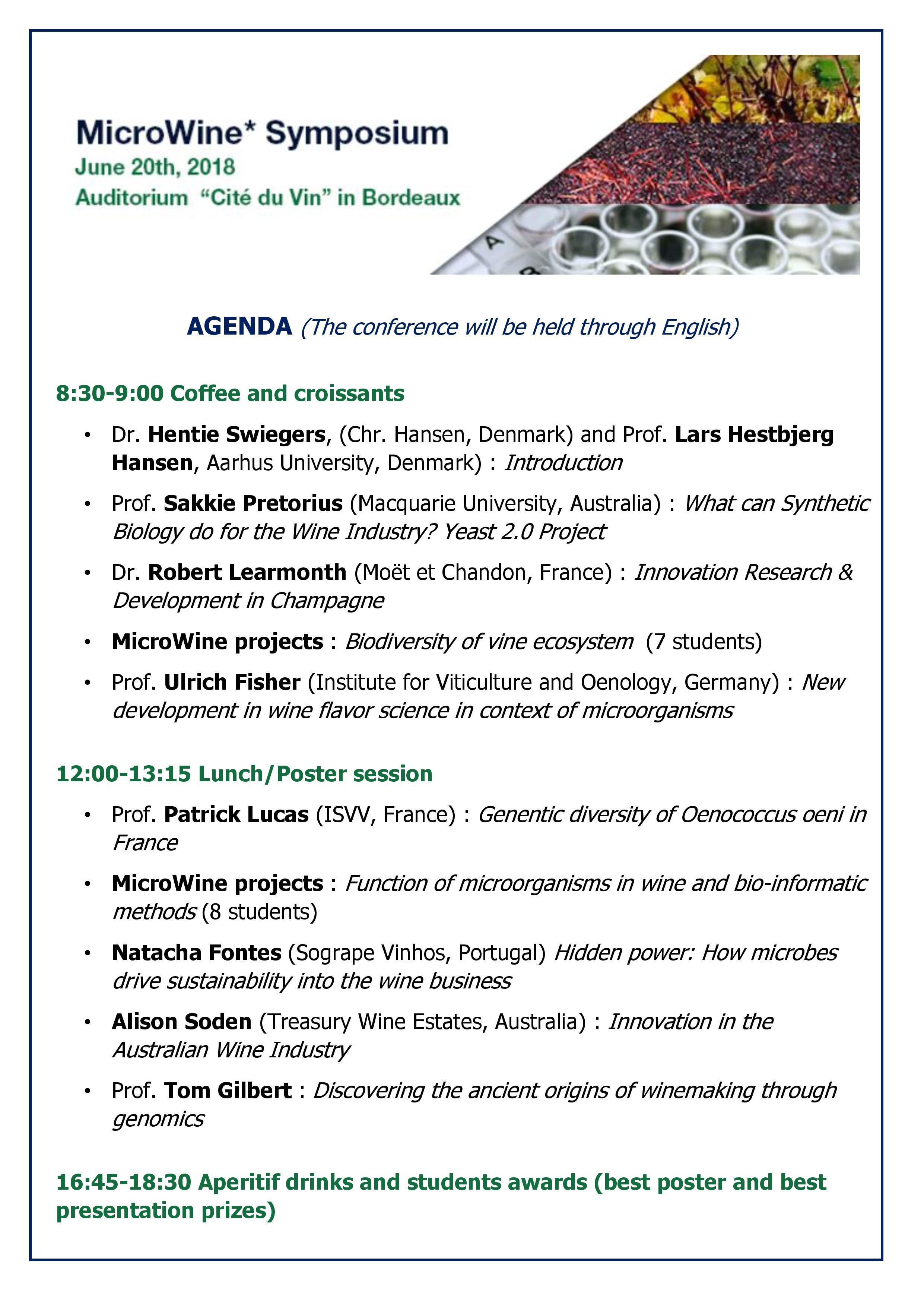 agenda Micro Wine Symposium