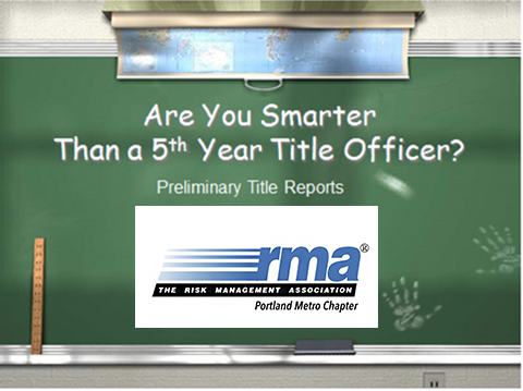 Are you smarter than a 5th year title officer?
