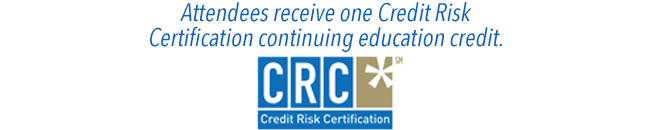 Attendees receive one credit risk certification credit.