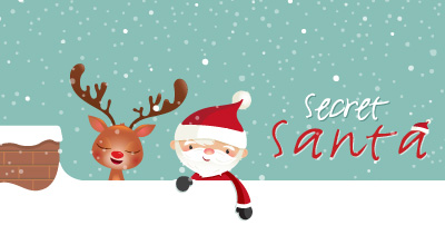 secret santa email template - your secret santa is coming christmas party with free