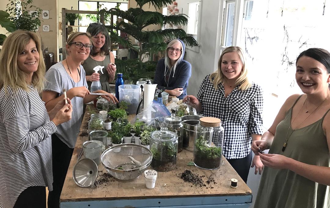 creepy terrarium workshop