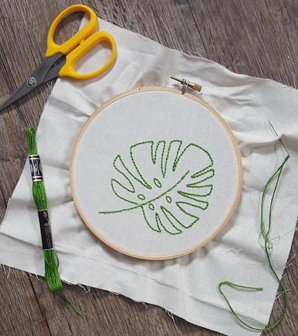 Monstera stitching