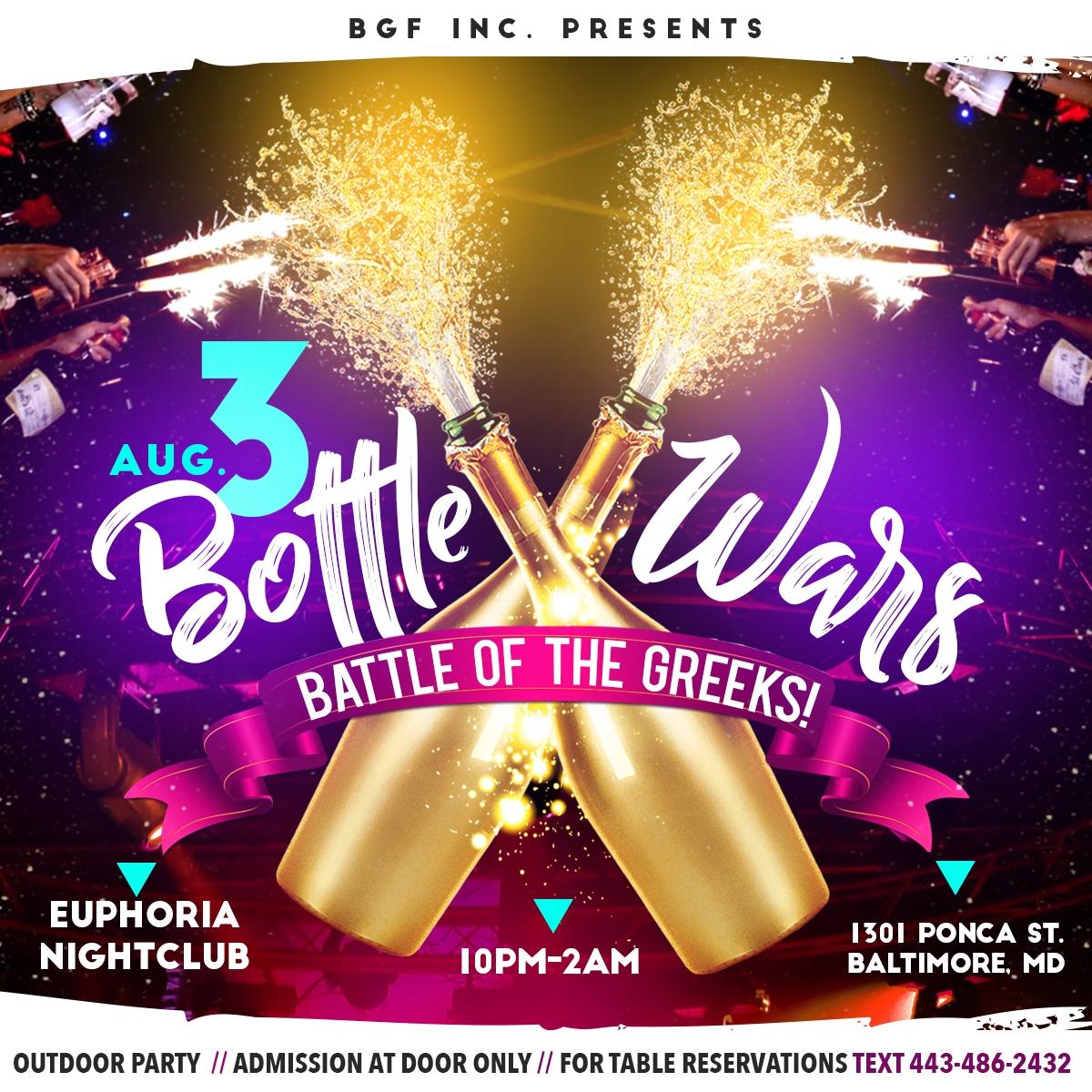 Friday BmoreGreek Bottle Wars