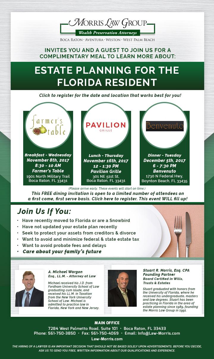 Visit our website to register http://law-morris.com/estate-planning-seminar-registration.cfm