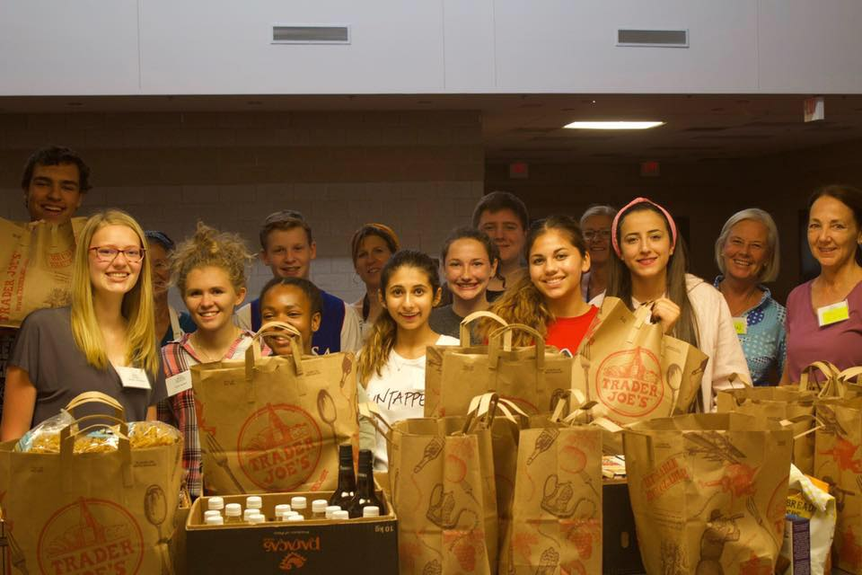 Group of teen volunteers for Fox Valley Food for Health.