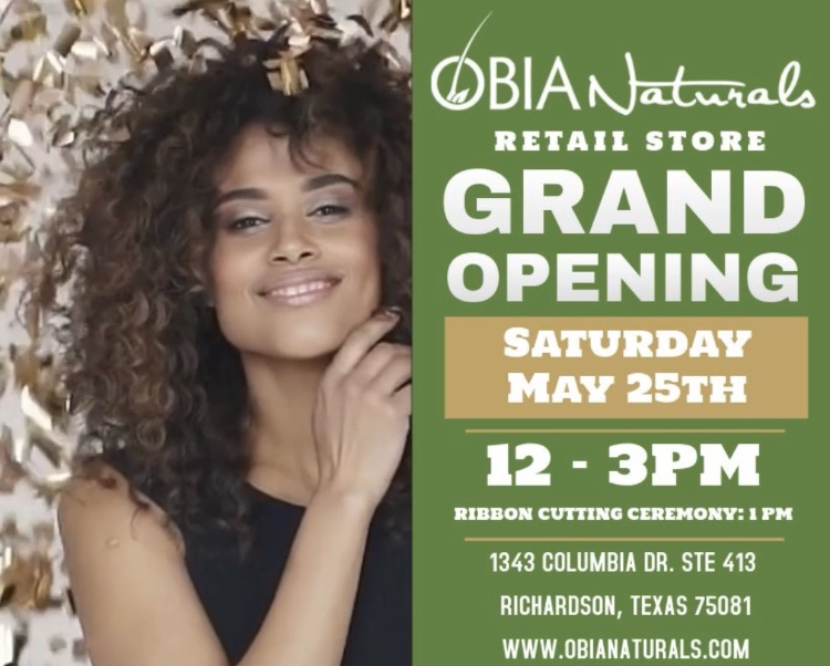 OBIA Naturals Grand Opening Flyer