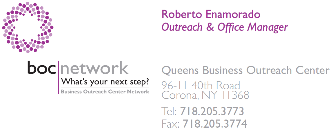Roberto Enamorado - Business Outreach Center, Contact