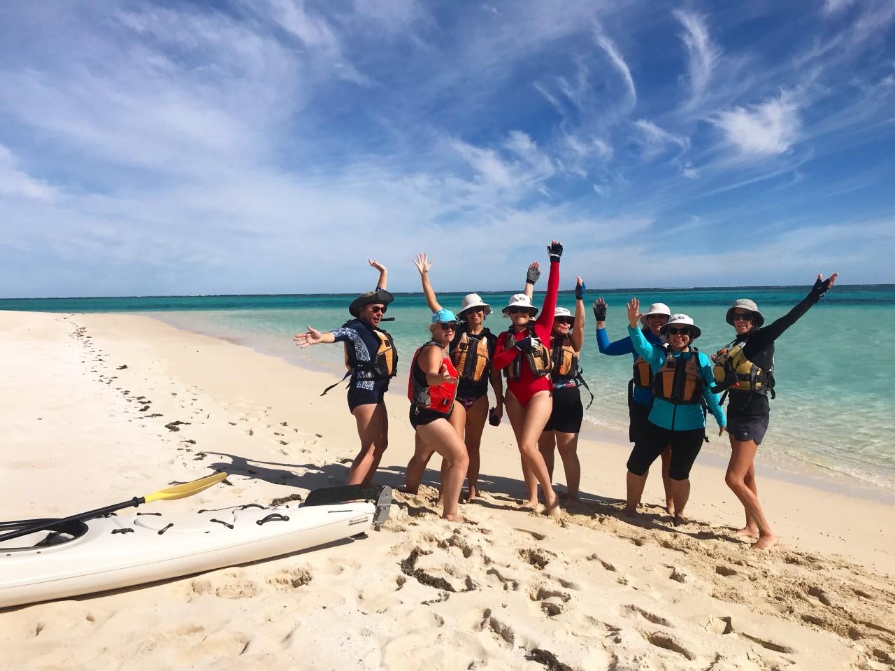 Beach stop at Ningaloo Reef