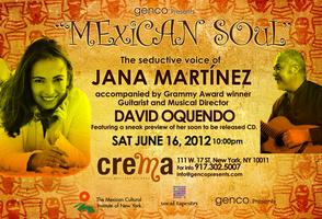 "Genco Presents: Jana Martinez and David Oquendo -  ""Mexican..."