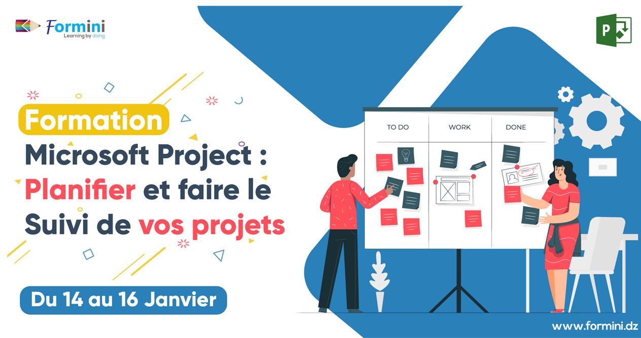 Formation Microsoft Project : Planifier et faire le suivi de vos projets - Janvier 2020 by Formini