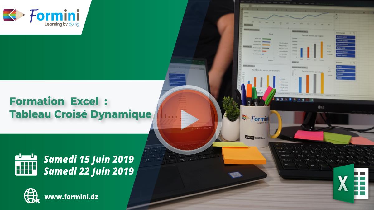Formation EXCEL : Tableau Croisé Dynamique - Juin 2019 by Formini
