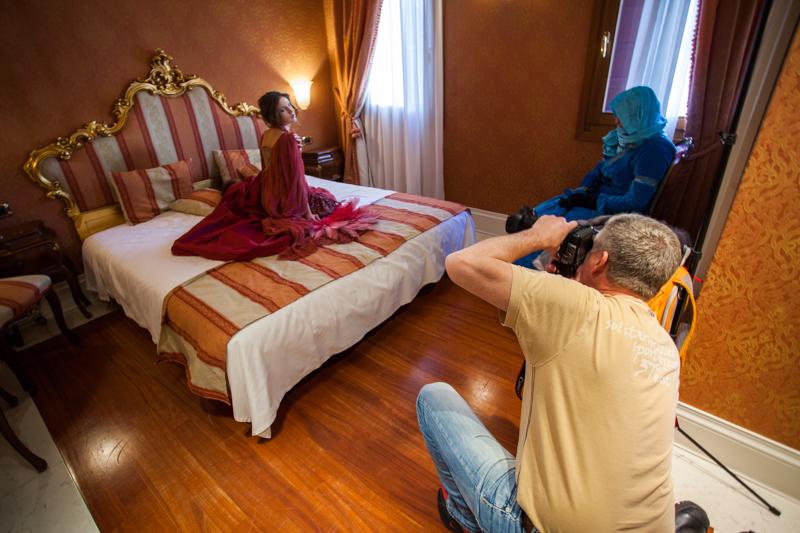 Workshop beim Hotel Shooting