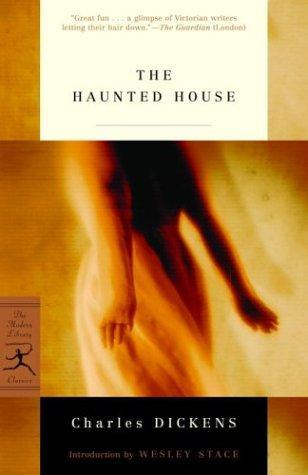 cover of The Haunted House, featuring an eathereal, female form whisping across the page... like a ghost