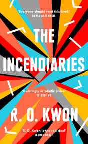 cover of Incendiaries, featuring a colorful geometric splash with lots of jagged edges