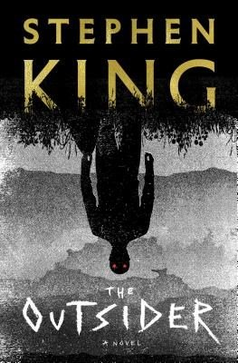 cover of Stephen King's The Outsider - featuring a creepy sillouette man against a grey landscape - but he's upside down