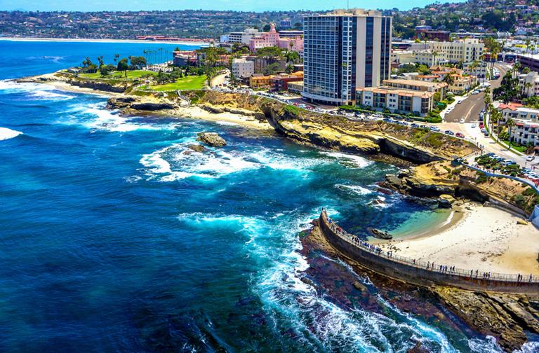 San Diego shore