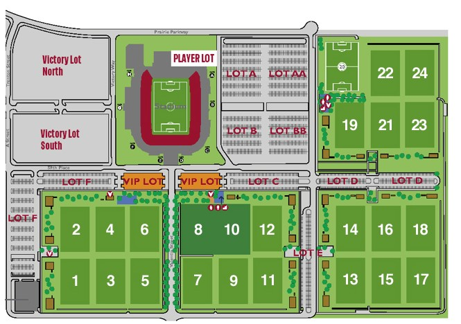 Map over Dick's Sporting Goods Park