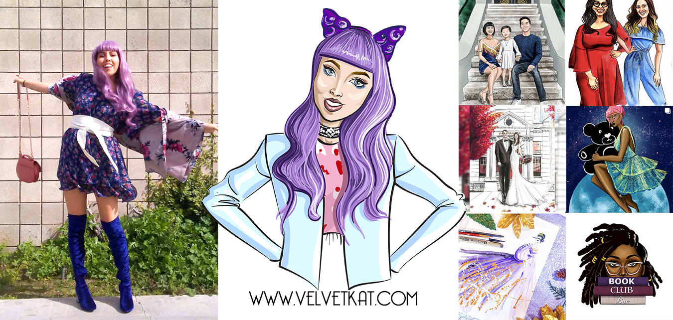 Fashion Illustration Workshop Los Angeles by Velvet Kat