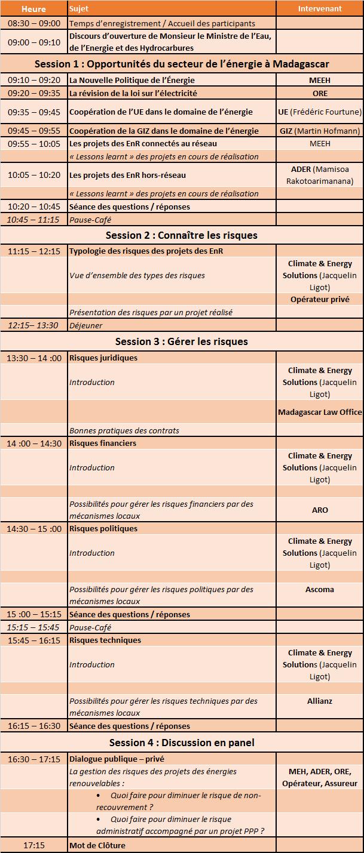 Agenda Atelier