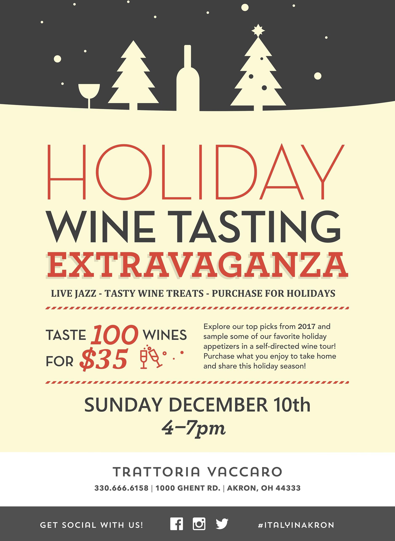 2017 Holiday Wine Tasting
