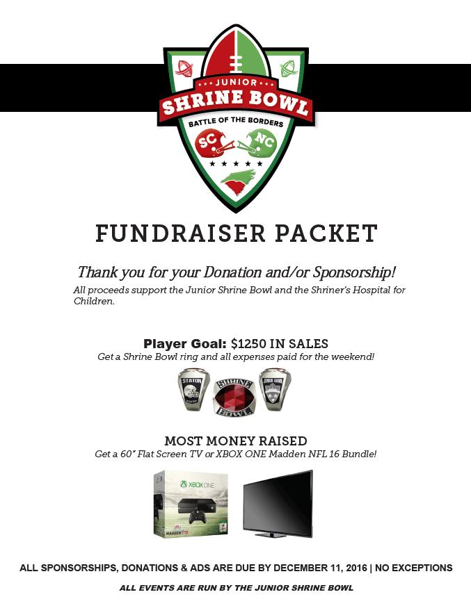 2016 Fundraiser Packet