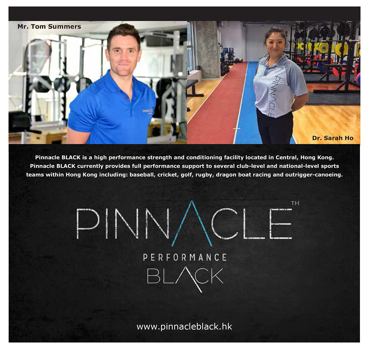 Pinnacle Black SportsLife HKG Seminar Speakers 2