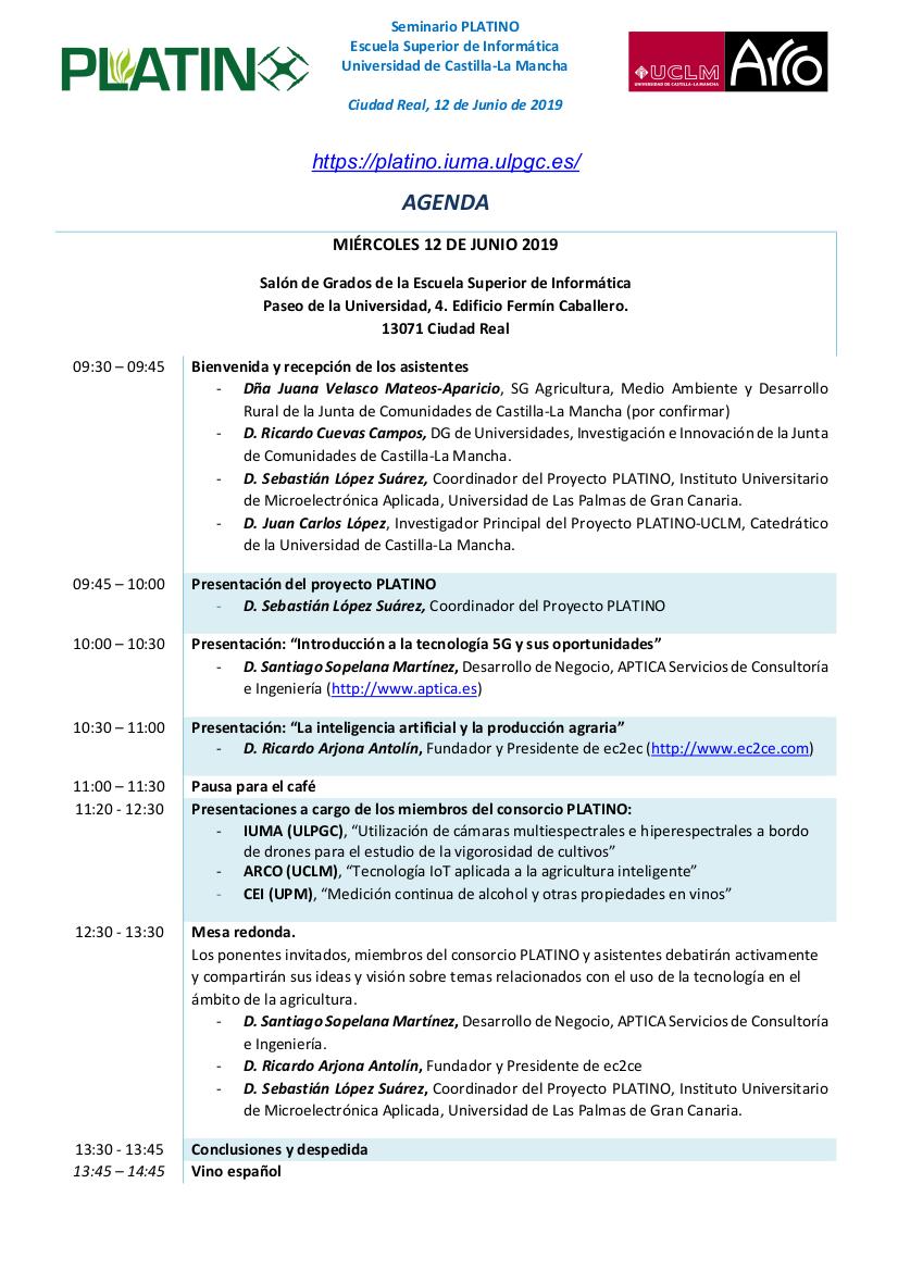 Agenda del evento