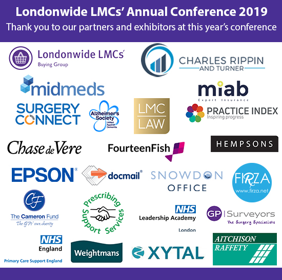 Londonwide LMCs' annual conference 2019 exhibitors