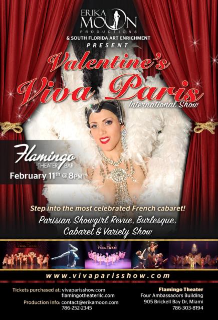 Valentine's Viva Paris International Show February 11th