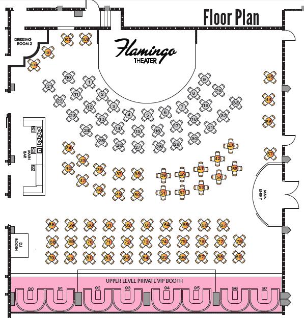 Valentine's Viva Paris International Show Seating Map