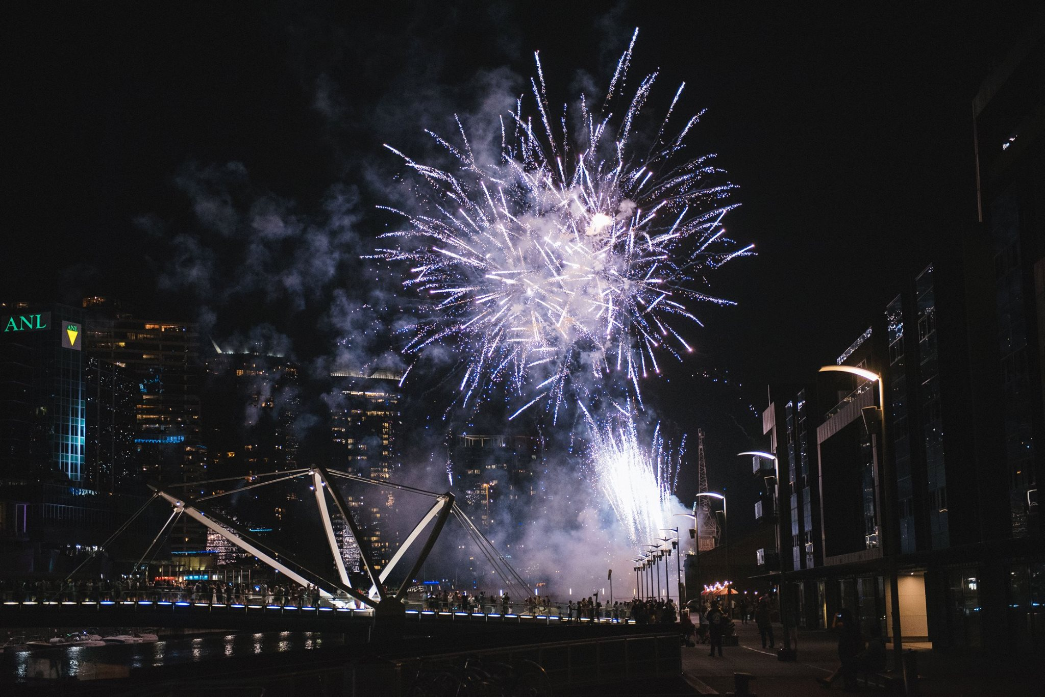 Fireworks by our beautiful riverside location