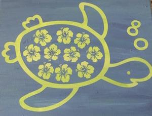 Flower Shell Turtle