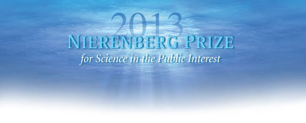 2013 Nierenberg Prize for Science in the Public Interest