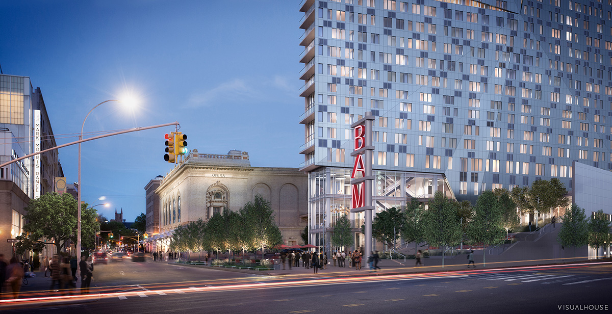 Rendering of Public Plaza at 300 Ashland
