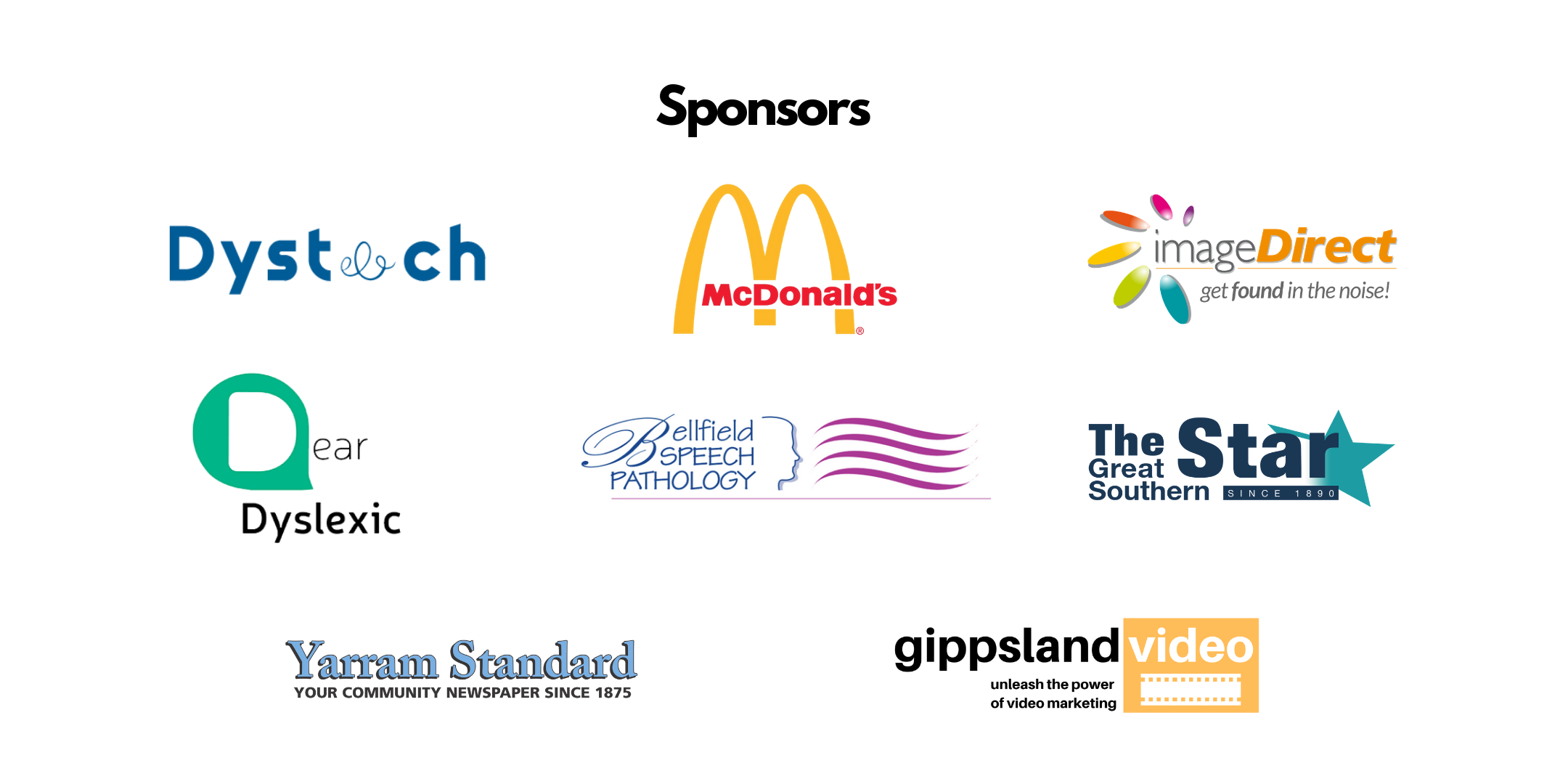 Sponsors of the conference