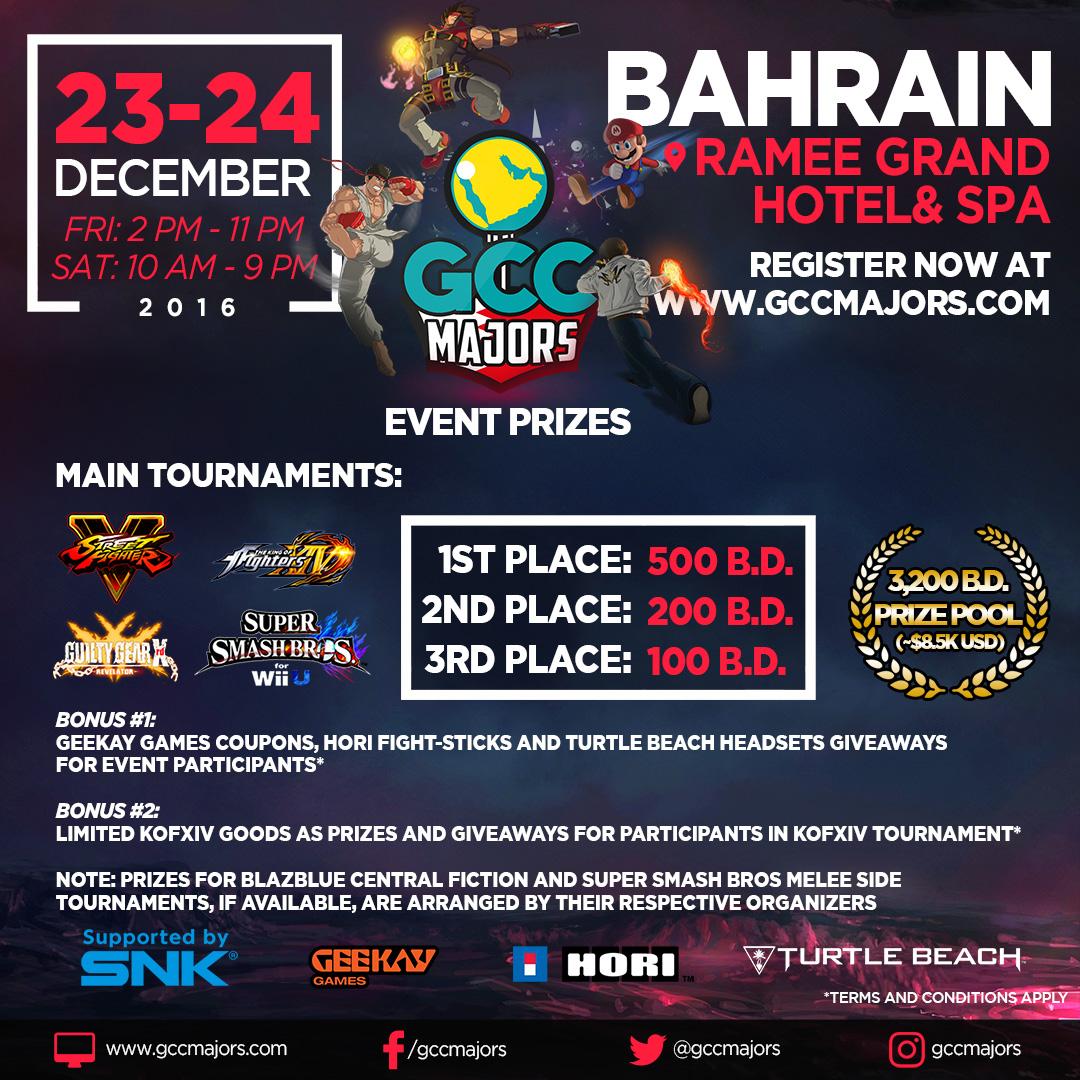 GCC Majors Bahrain 2016 Prizes