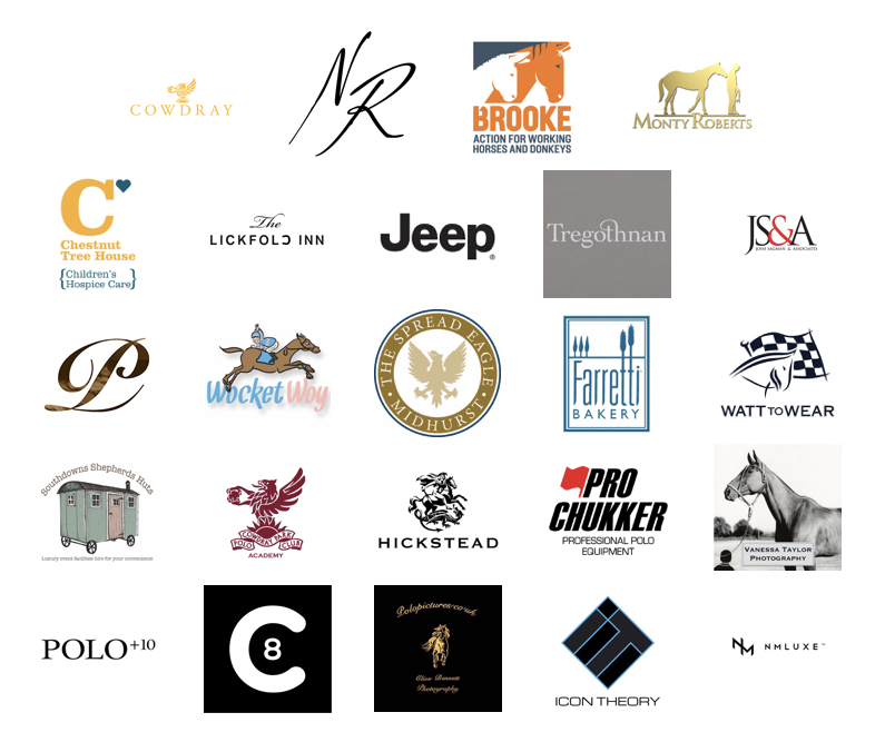 Sponsor logos for 2017 UK Sunset Polo