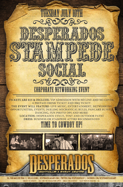 Desperados Stampede Social - Corporate Networking Event