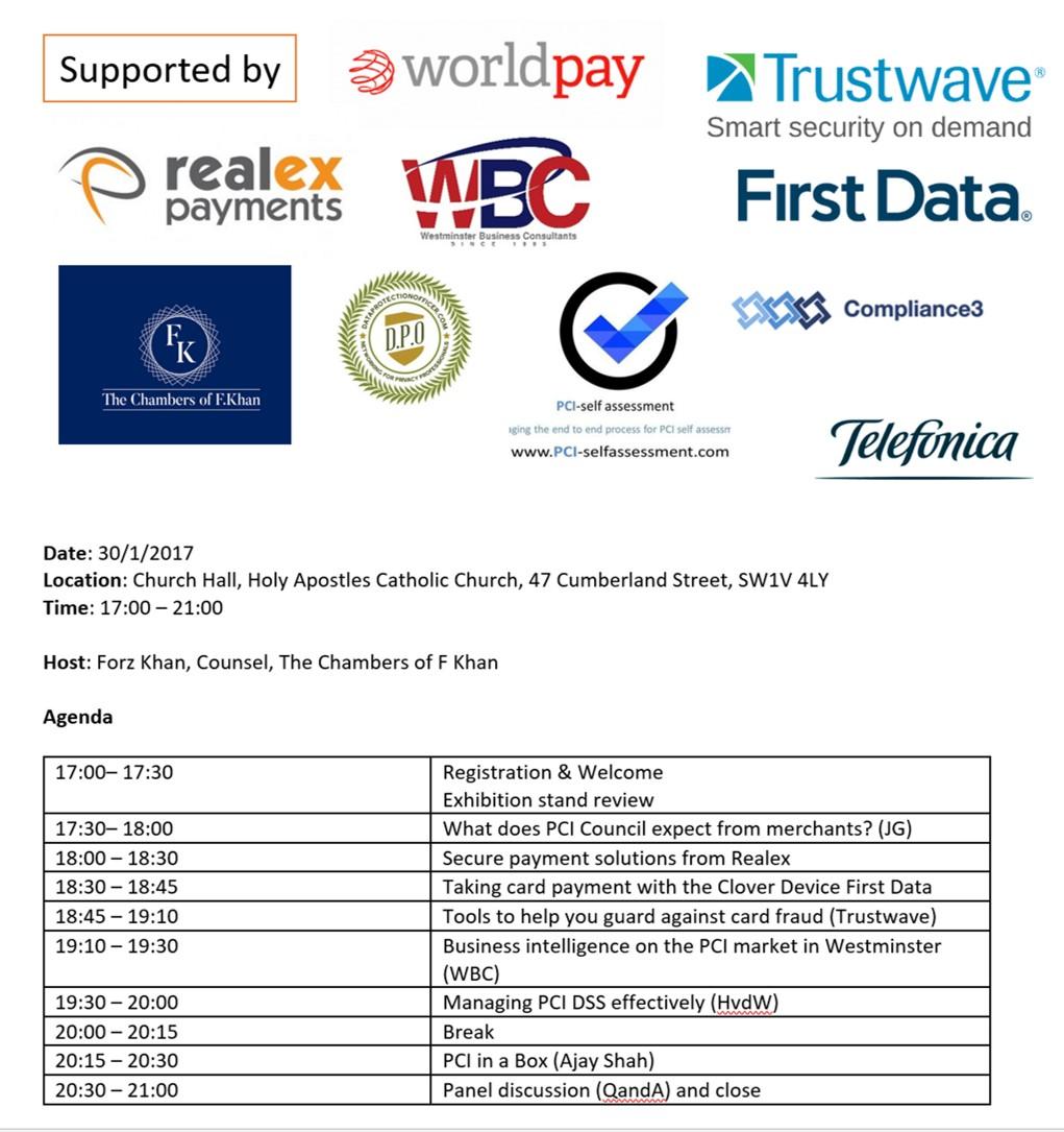 PCI Event Agenda