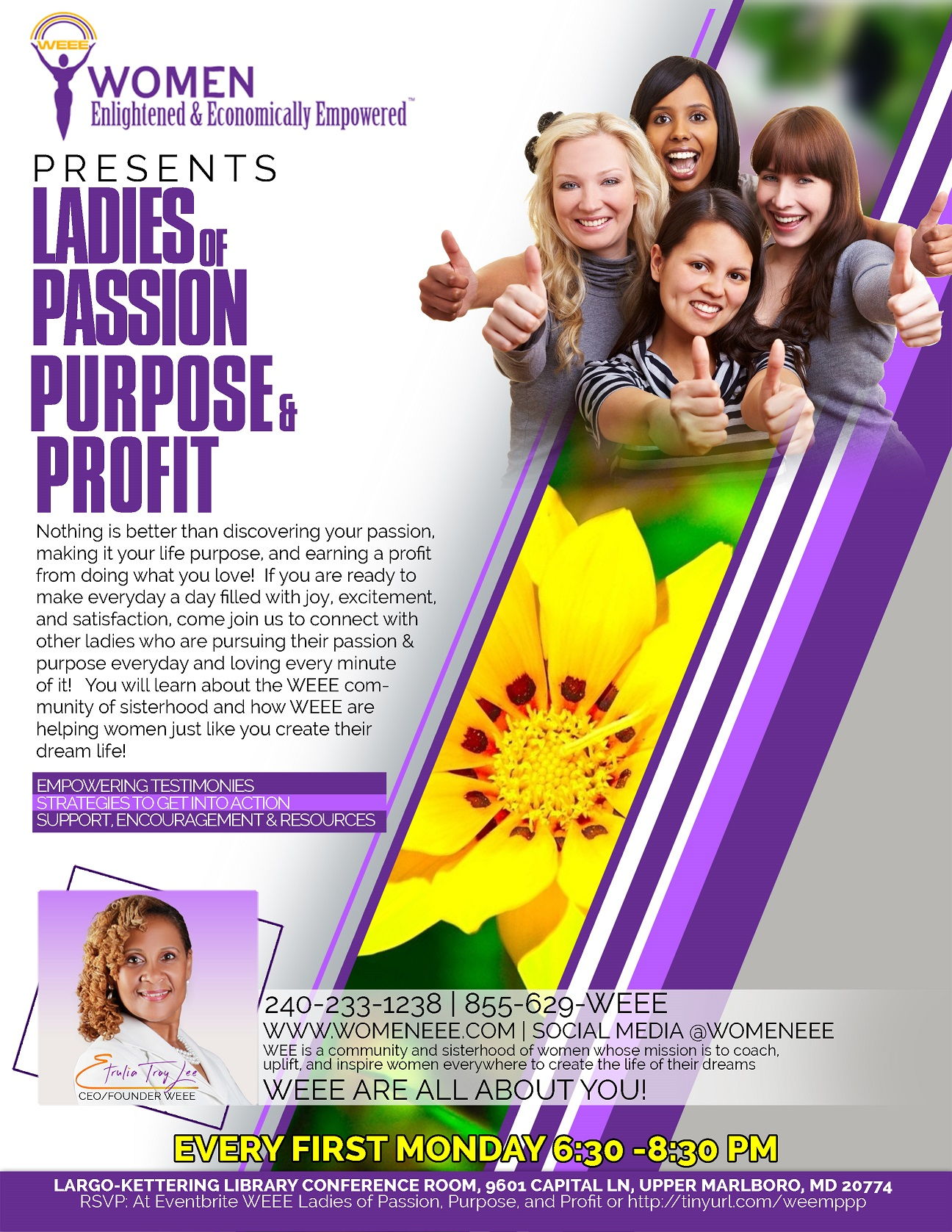 WEEE Ladies of Passion, Purpose, & Profit @ Largo-Kettering Branch Library  | Upper Marlboro | Maryland | United States