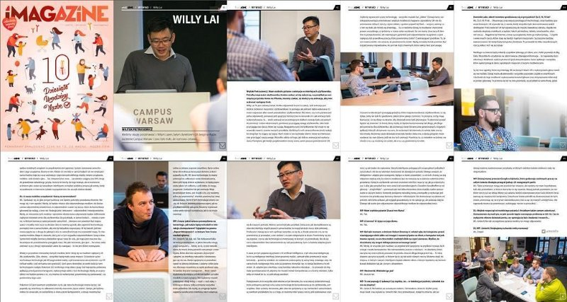 Profiled in iMagazine at Google Campus Warsaw