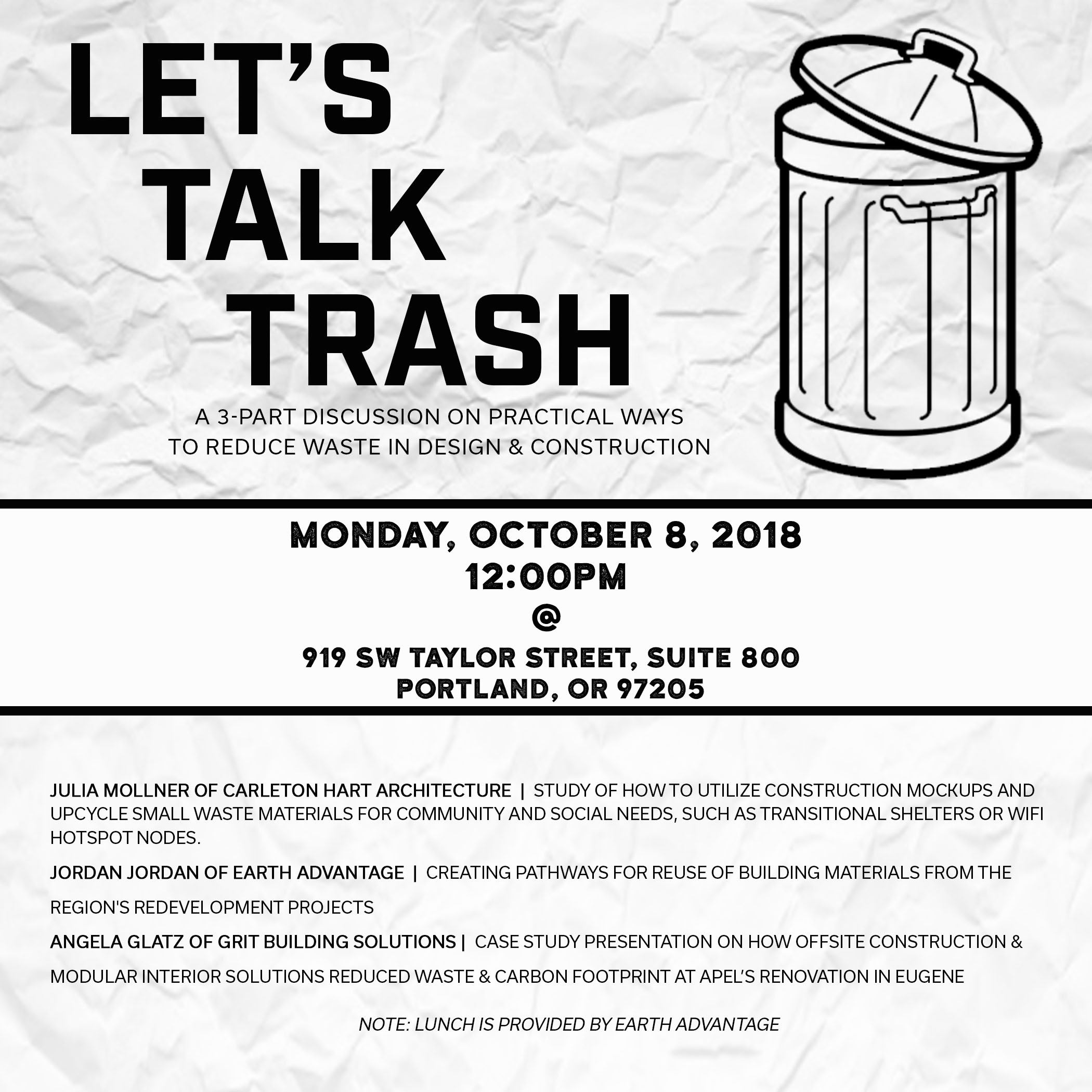 Trash Talk Event Flyer
