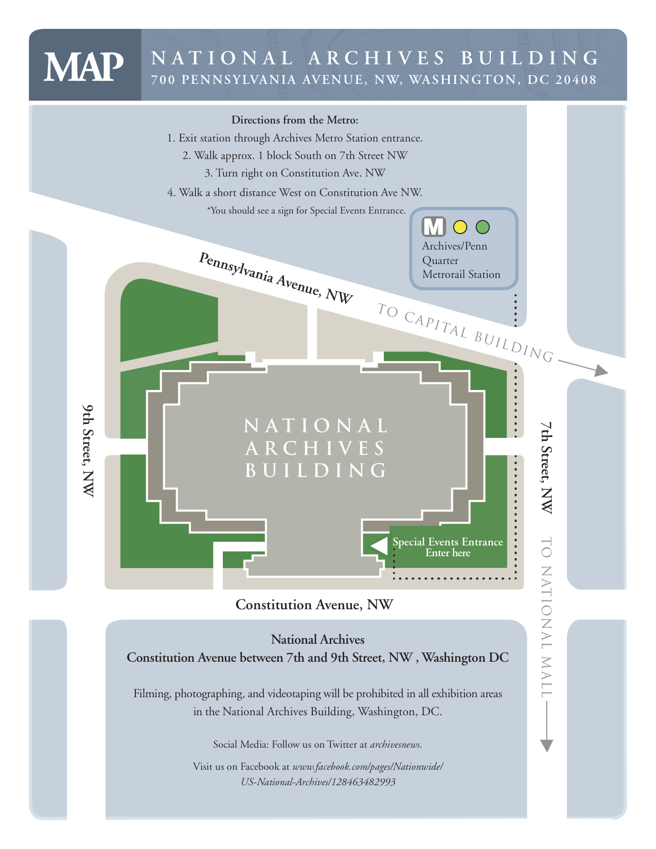 National Archives Map