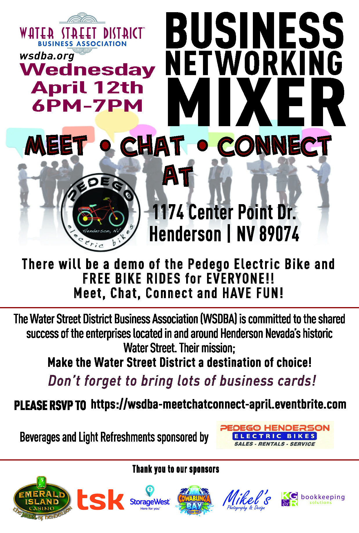 April Mixer flyer
