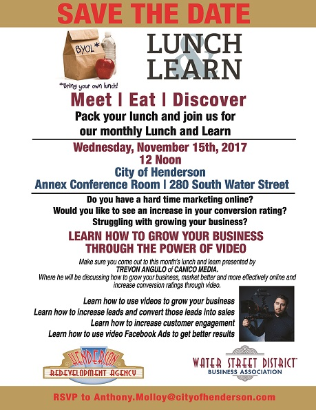 Lunch and Learn November