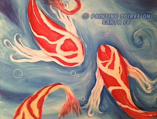 Picture of Koi Pond painting
