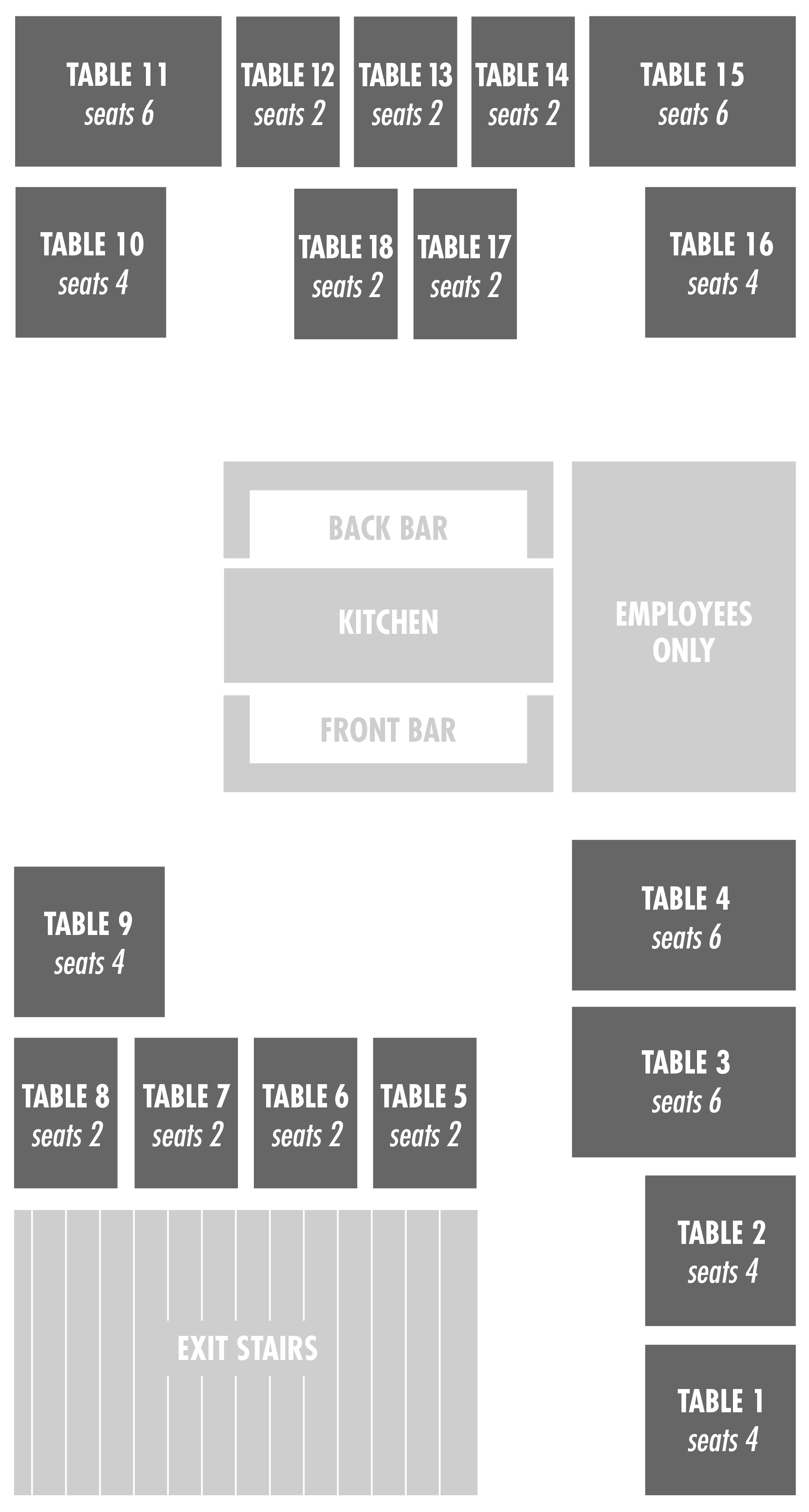 Ice Plant Bar Seat Map